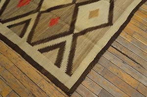Antique Navajo Rug - 21436 | American  4' 0'' x 5' 0'' | Multi, Origin USA, Circa: 1920