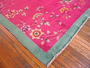 Antique Chinese - Art Deco Rug - 21847 | Chinese 9' 0'' x 11' 4'' | Pink, Origin China, Circa: 1920
