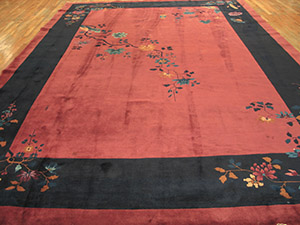Antique Chinese - Art Deco Rug - 22615 | Chinese 10' 0'' x 14' 8'' | Orchid, Origin China, Circa: 1920