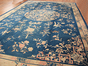 Antique Chinese - Peking Rug - 21780 | Chinese 13' 8'' x 23' 2'' | Blue, Origin China, Circa: 1890
