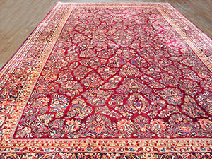 Antique Sarouk Rug - 40-2901 | Persian Formal 12' 2'' x 21' 1'' | Red, Origin Persia, Circa: 1920