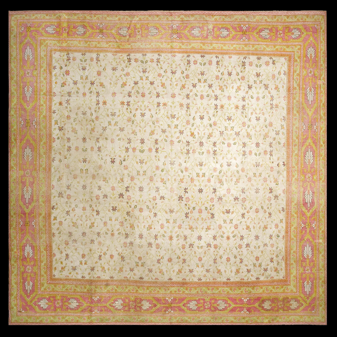 Antique Cotton Agra Rug With Abrash Circa 1900 For Sale: Antique Agra - Cotton Rug - 18891