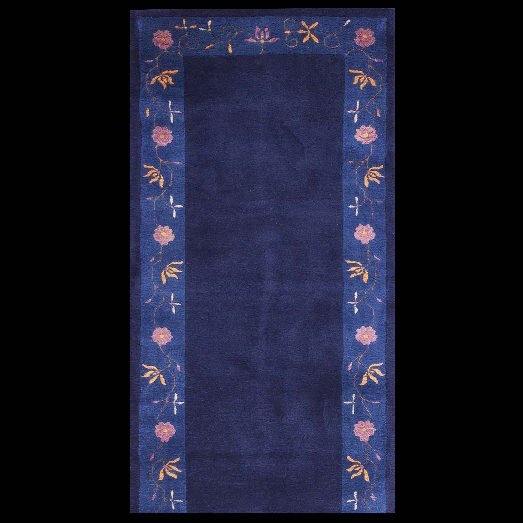 Antique Chinese - Peking Rug - 40-2309 | Chinese 2' 8'' x 19' 11'' | Navy, Origin China, Circa: 1920